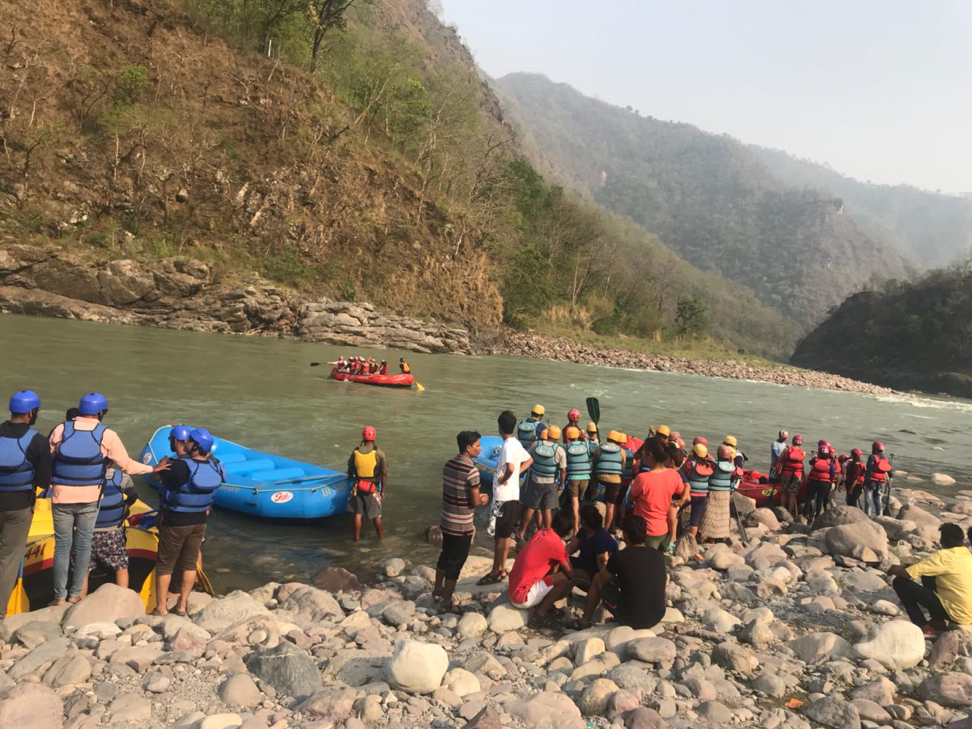 Rafting at Rishikesh, Uttarakhand, India