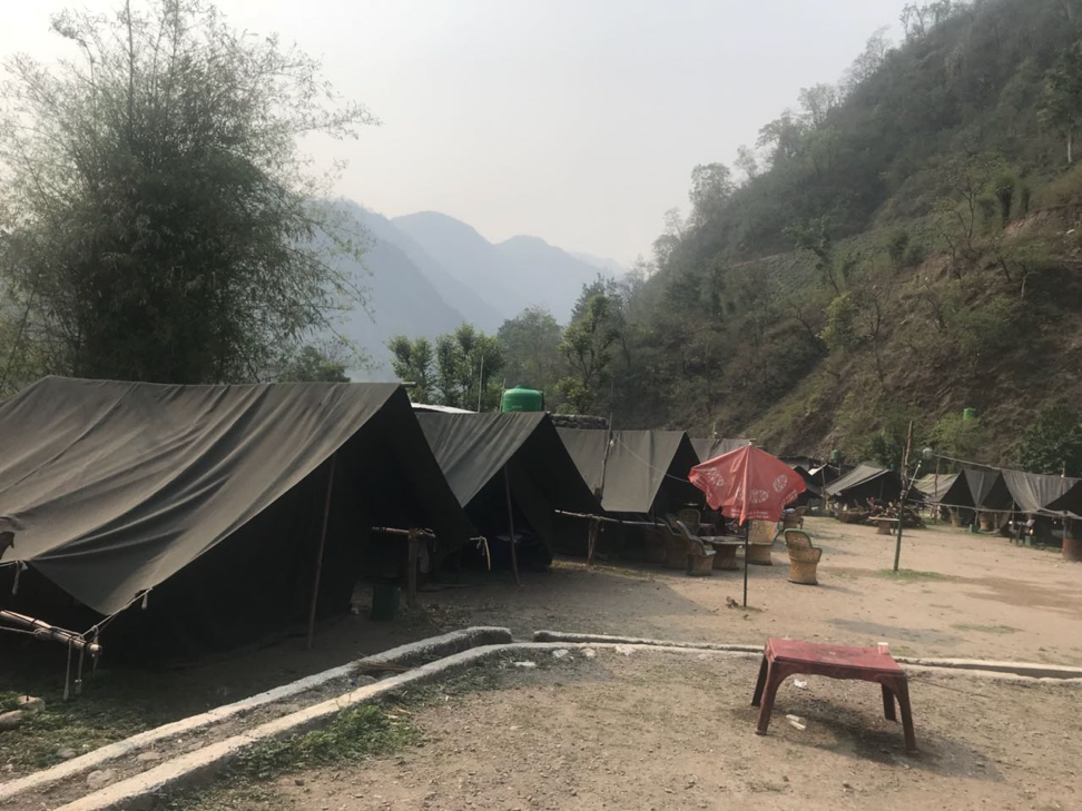 Camping at Rishikesh, Uttarakhand, India