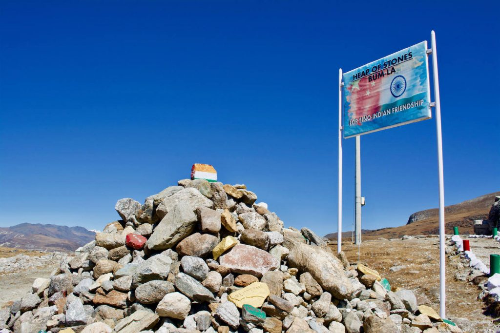 Heap of Stones, Bum La Pass, Tawang, Arunachal Pradesh